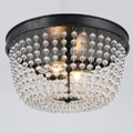 Connie 2-light Antique Black Flush Mount