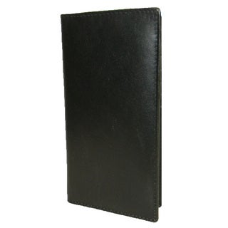 Hollywood Tag Black Leather Checkbook Wallet