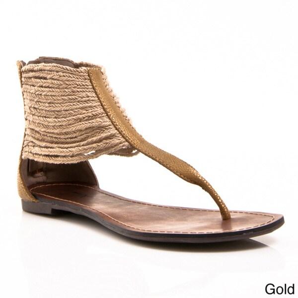 Gomax Women's Berdine-46 Gladiator Wrap Thong Sandals