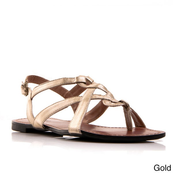 Gomax Women's Berdine-59 Cross-strap Flat Sandals