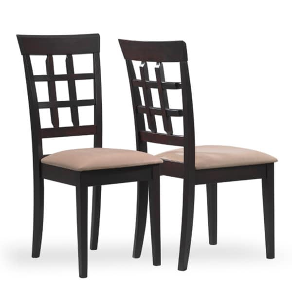 Monarch Cappucino 39-inch Lattice Back Dining Chairs (Set of 2)