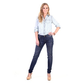 Stitch's Women's Dark Wash Fashion Denim Skinny Jeans