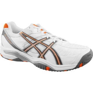 Asics Men's 'Gel Challenger 9' White/ Orange Tennis Shoes