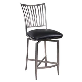 Salem Brushed Chrome Finish Backless Stool 16000492