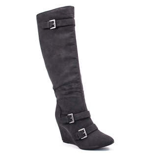 Lane Bryant Fresh Womens Black Nubuck Boots