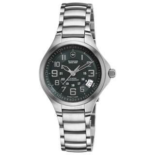 Swiss Army Women's 241471 'Base Camp' Grey Dial Stainless Steel Bracelet Watch