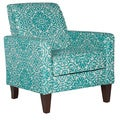 angelo:HOME Sutton Modern Damask Turquoise Blue Arm Chair