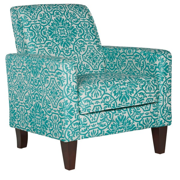 Angelo home bradstreet damask turquoise blue armless chairs set of 2