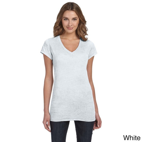 Alternative Women's 'Diane' V-neck Burnout T-shirt