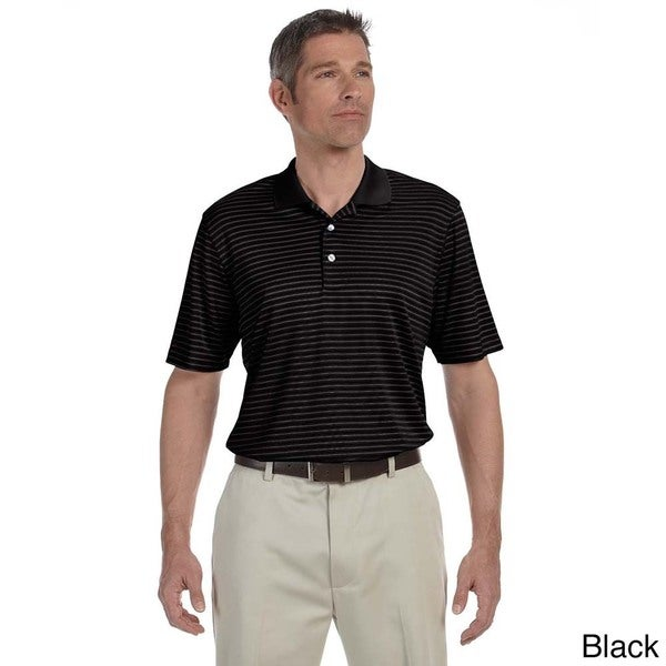 Ashworth Men's Performance Interlock Stripe Polo Shirt