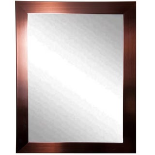 USA Made Rayne Industrial Bronze Wall Mirror