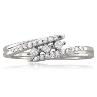 10k White Gold 1/5ct TDW Princess-cut Diamond Ring (H-I, I2)