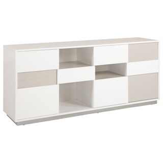 Contemporary Two-tone Buffet with Open Storage