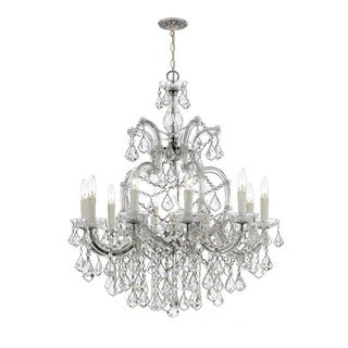Maria Theresa 10-light Chrome/ Crystal Chandelier