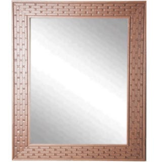 USA Made Rayne Wheat Crate Wall Mirror