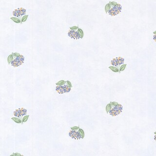 Periwinkle Blue Lavender Toss Blotch Texture Wallpaper