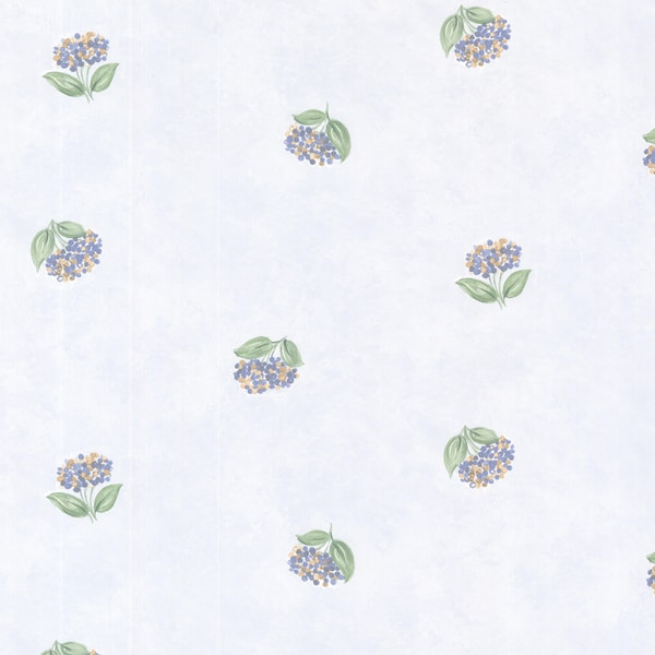 Periwinkle Blue Lavender Toss Blotch Texture Wallpaper
