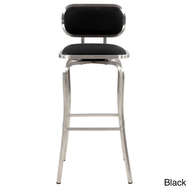 Somette 30 Inch Stainless Steel Modern Swivel Bar Stool