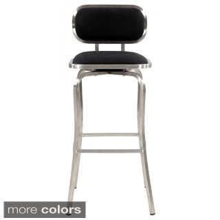 Modern Stainless Steel Swivel Bar Stool