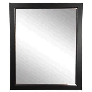 Rayne USA-made Black/ Silver Midnight Wall Mirror