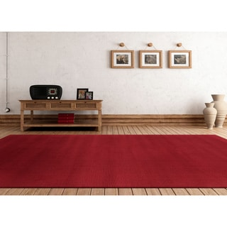 Hand-loomed Columbus Casual Solid Wool Area Rug (5' x 8')