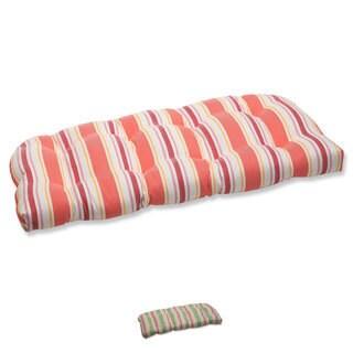 Pillow Perfect Cayman Wicker Loveseat Cushion