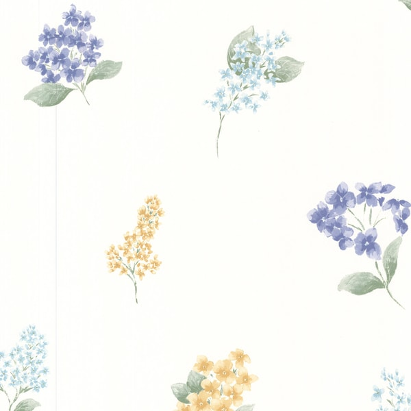 Magnolia White Blossom Toss Wallpaper