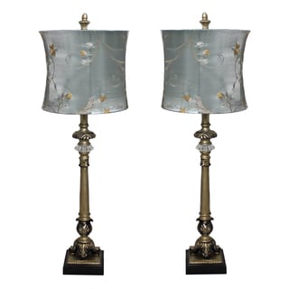 Casa Cortes 'Parisian Buffet' Hand-crafted Table Lamp (Set of 2)