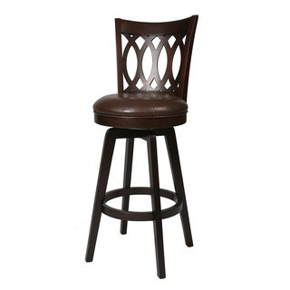 Knollwood Espresso Annigre Swivel Counter Stool