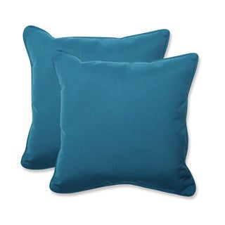 Pillow Perfect 18.5-inch Throw Pillow with Sunbrella Spectrum Peacock Fabric (Set of 2)