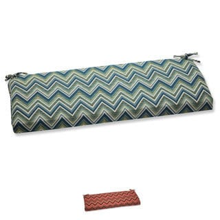 Pillow Perfect Bench Cushion with Sunbrella Chevron Fabric