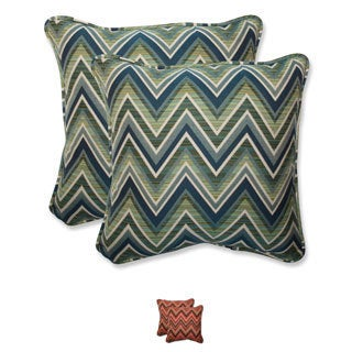 Pillow Perfect 18.5-inch Throw Pillow with Sunbrella Chevron Fabric (Set of 2)