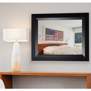 Rayne American Made Matte Black Wall Mirror