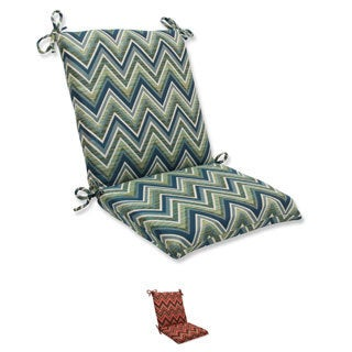 Pillow Perfect Squared Corners Chair Cushion with Sunbrella Chevron Fabric