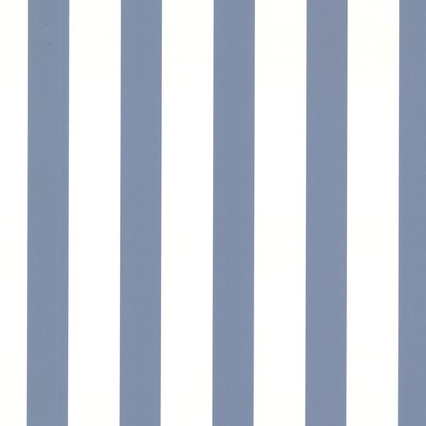 Mediterranean Blue Classic Stripe Wallpaper