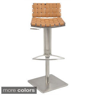 Somette Web Style Seat and Back Pneumatic Gas Lift Adjustable Swivel Stool
