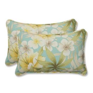 Pillow Perfect Outdoor Sugar Beach Sand Rectangular Throw Pillow (Set of 2)