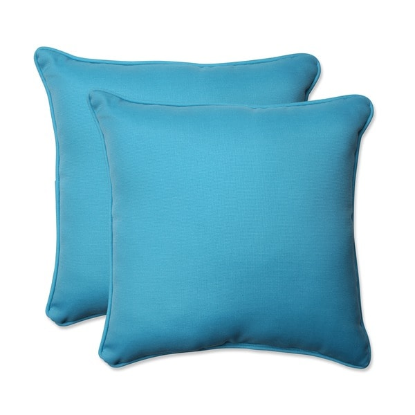 Pillow Perfect Outdoor Veranda Turquoise 18 5 inch Throw