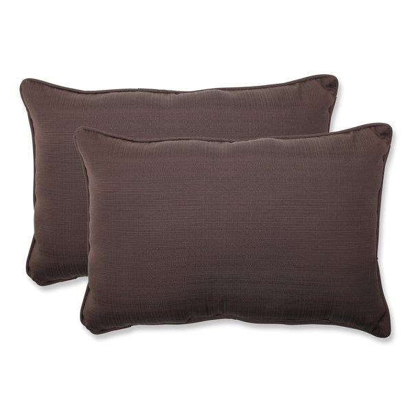 Brown Rectangular Throw Pillow : Pillow Perfect Outdoor Brown Over-sized Rectangular Throw Pillow (Set of 2) - 16130301 ...