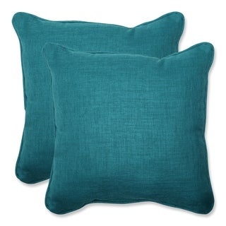 Pillow Perfect Outdoor Teal 18.5-inch Throw Pillow (Set of 2)