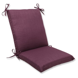 Pillow Perfect Outdoor Purple Squared Corners Chair Cushion