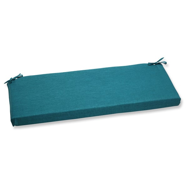 Pillow Perfect Outdoor Teal Bench Cushion
