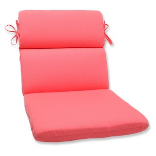 Pillow Perfect Outdoor Pink Rounded Corners Chair Cushion