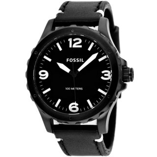 Fossil Men's JR1448 'Nate' Black Dial Analog Watch