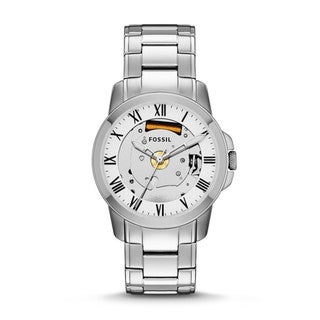 Fossil Men's 'Grant' Stainless Steel Skeleton Watch