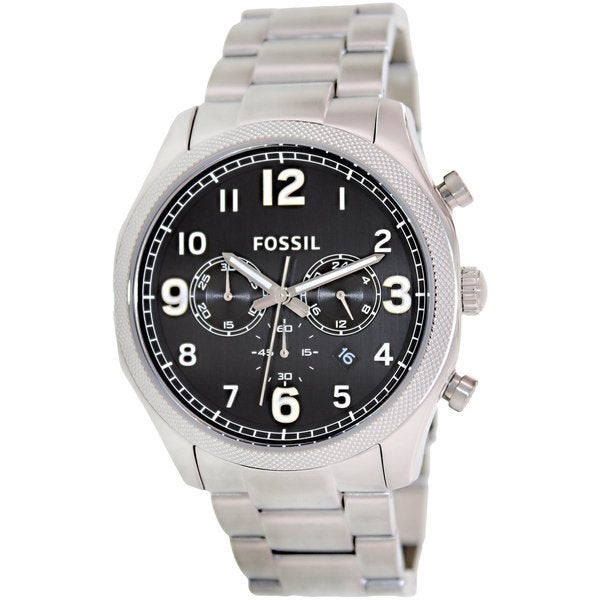 Fossil Men's FS4862 'Foreman' Black Dial Stainless Steel Watch
