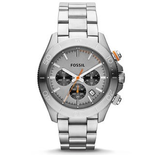 Fossil Men's CH2901 'Retro Traveler' Silvertone Watch