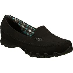 Women's Skechers Relaxed Fit Bikers Cross Walk Black
