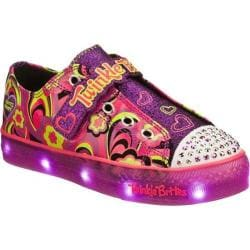 Girls' Skechers Twinkle Toes Twinkle Brites Boogie Lights Purple/Multi