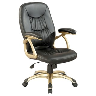Somette Champagne/Black Ultra Comfortable High Back Office Chair